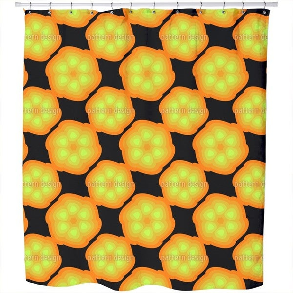 Shop Glowing Fruit Shower Curtain