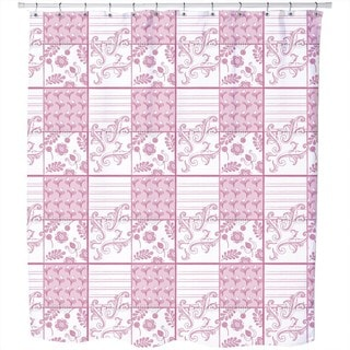 Painted Art Pink Shower Curtain