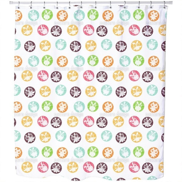 Owls Vignettes Shower Curtain