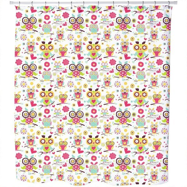 Owl Family Shower Curtain