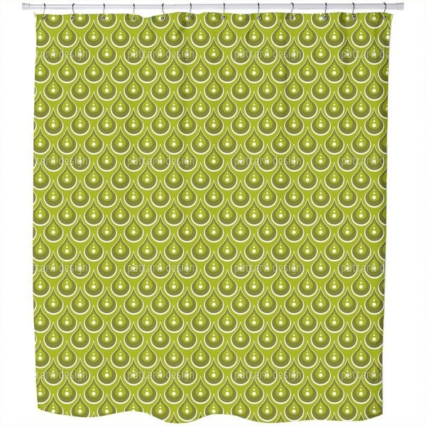 Jade Rain Shower Curtain