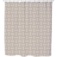 Intertwined Brown Shower Curtain