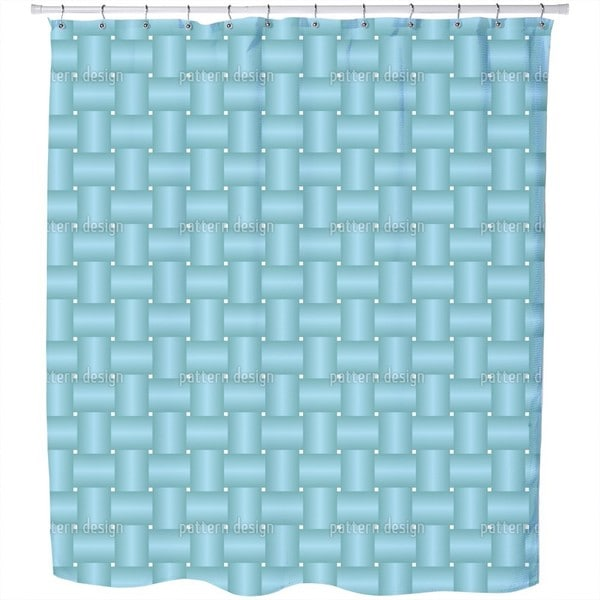 Intertwined Blue Shower Curtain