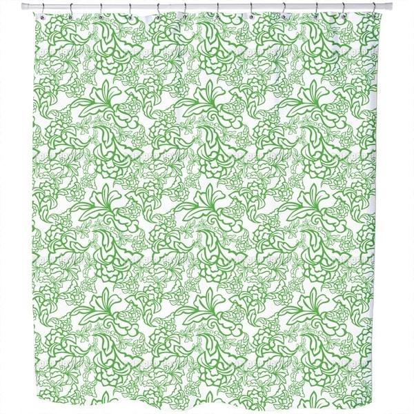 Oriental Tendrillars Shower Curtain
