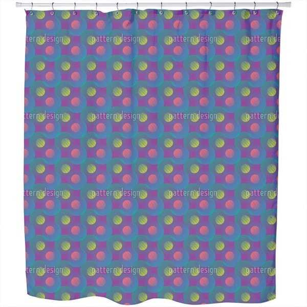 Geometric Wave Game Shower Curtain