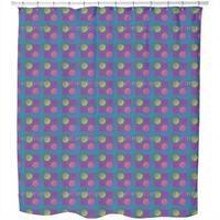 Geometric Wave Game Shower Curtain