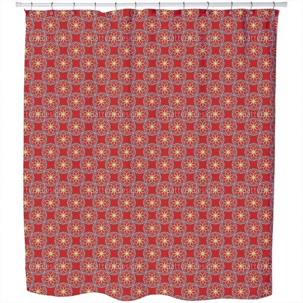 Geometric Orient Shower Curtain