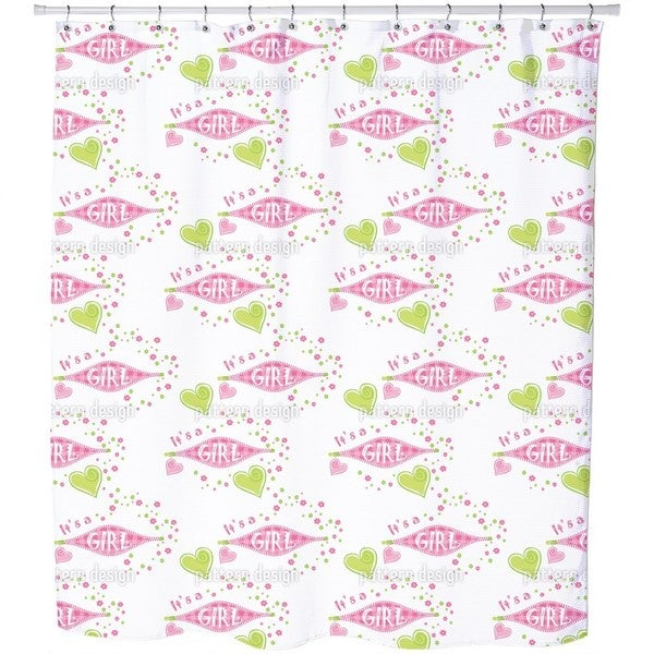 It Is a Girl Shower Curtain