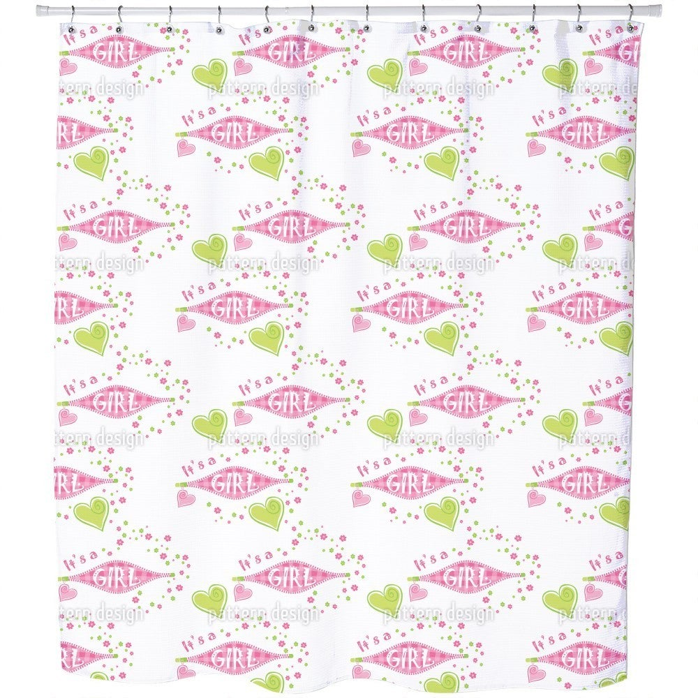 Uneekee It Is a Girl Shower Curtain (Regular (69 inches X...