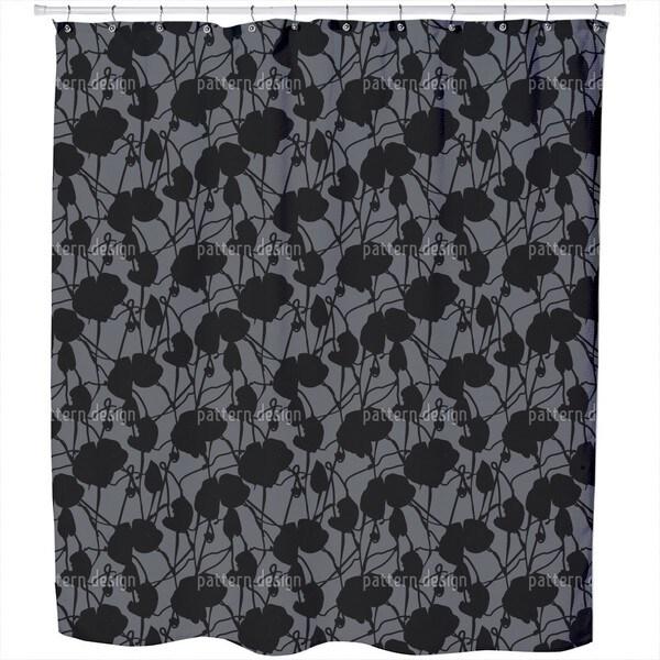 Ink Flora Shower Curtain