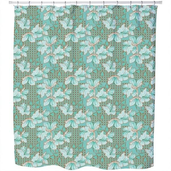 Oriental Blossoms Shower Curtain