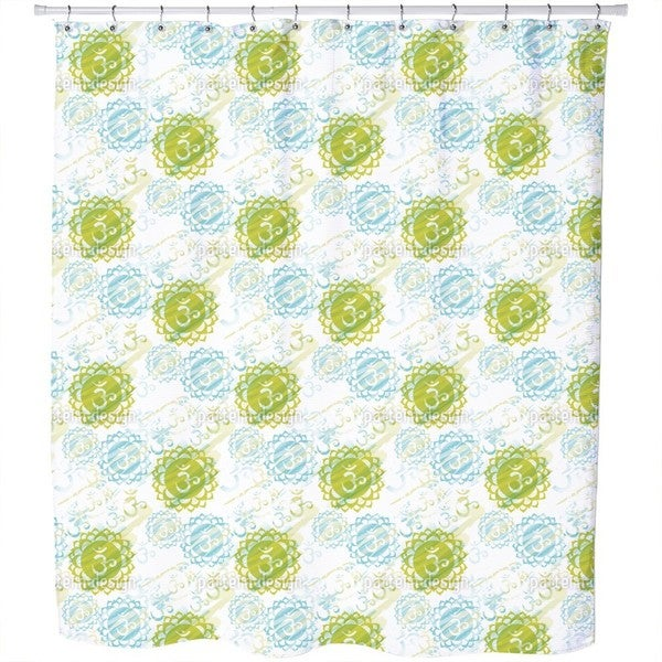 Om Green Shower Curtain