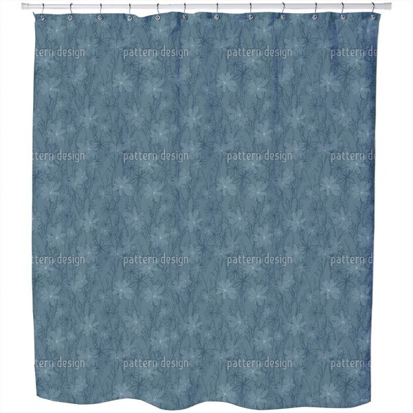 Night Meadow Shower Curtain