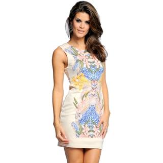 Sara Boo Floral Print Sheath Dress