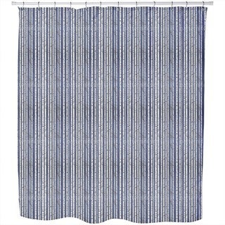 Olgas Birch Forest Stripes Shower Curtain
