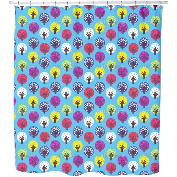 In The Patchwork Forest Shower Curtain
