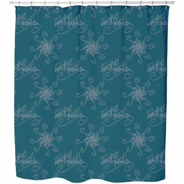 Holy Days Petrol Shower Curtain
