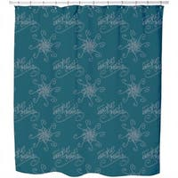 Holy Days Petrol Shower Curtain