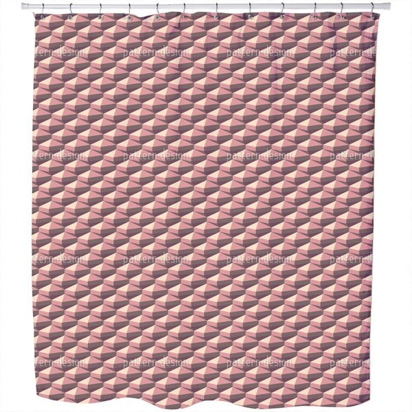 Octahedron Retro Shower Curtain