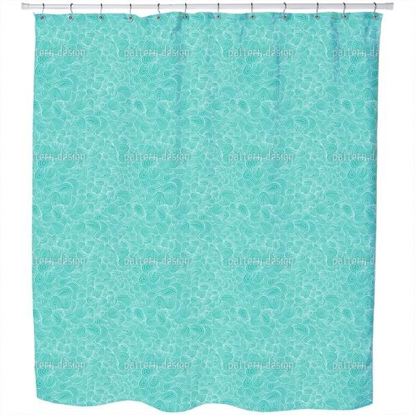 Ocean Tongues Shower Curtain