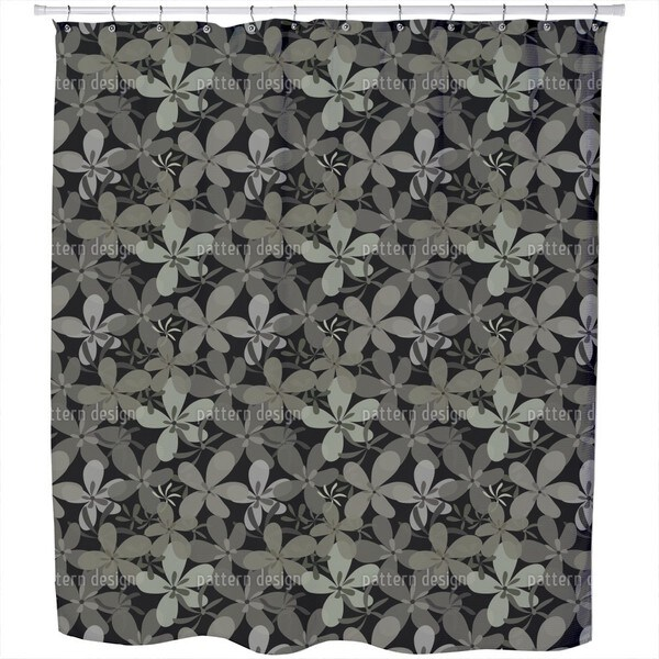 Night Flower Festival Shower Curtain
