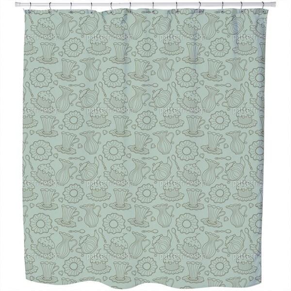 Hen Party Green Shower Curtain