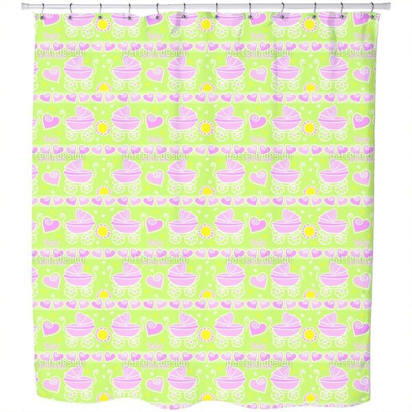 Neon Baby Pink Shower Curtain