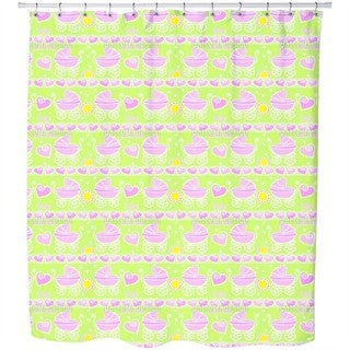 Neon Baby Pink Shower Curtain