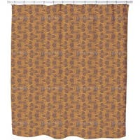 New Wave Brown Shower Curtain