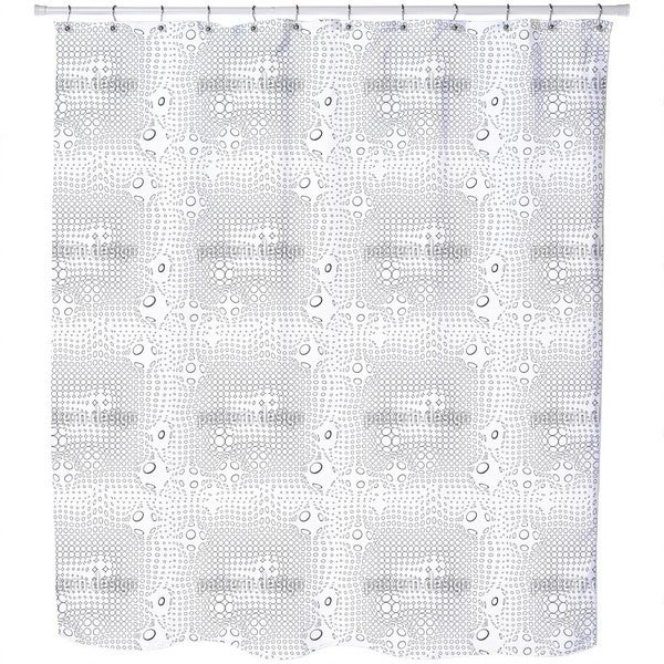 Network of Circles Shower Curtain