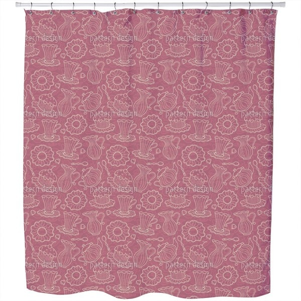 Hen Party Red Shower Curtain