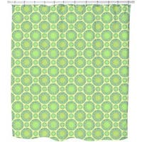 Green Marbles Shower Curtain
