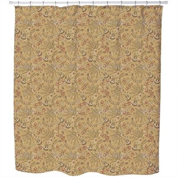 Natashas Desert Garden Shower Curtain