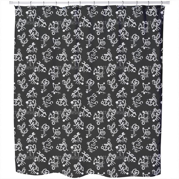 Naive Characters Shower Curtain