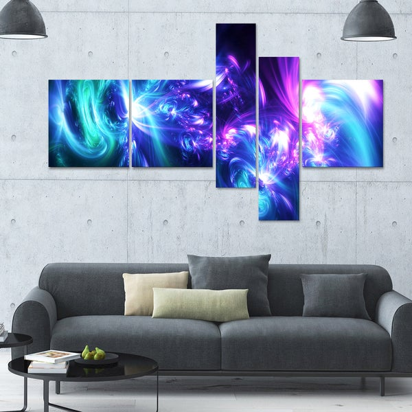 Designart 'Bursts of Light' 63x36 Modern Wall Art - 5 Panels