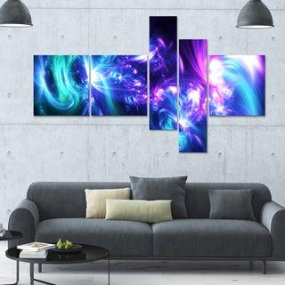 Designart 'Bursts of Light' 63x36 Modern Wall Art - 5 Panels
