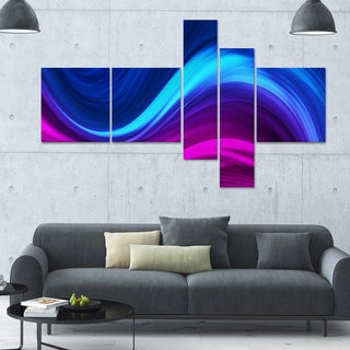 Designart 'Synchronicity' 63x36 Modern Wall Art - 5 Panels