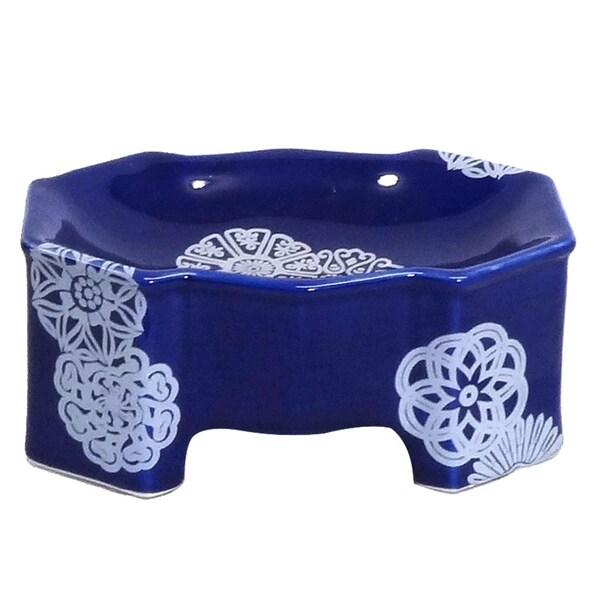 Cobalt Blue Porcelain Soap Dish