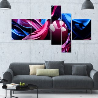 Designart 'What do you see?' 63x36 Abstract Wall Art - 5 Panels
