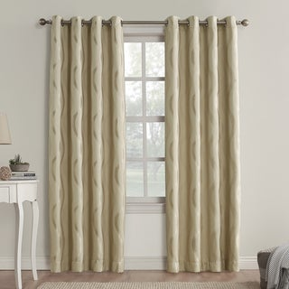 Sun Zero Aubry Blackout Grommet Curtain Panel