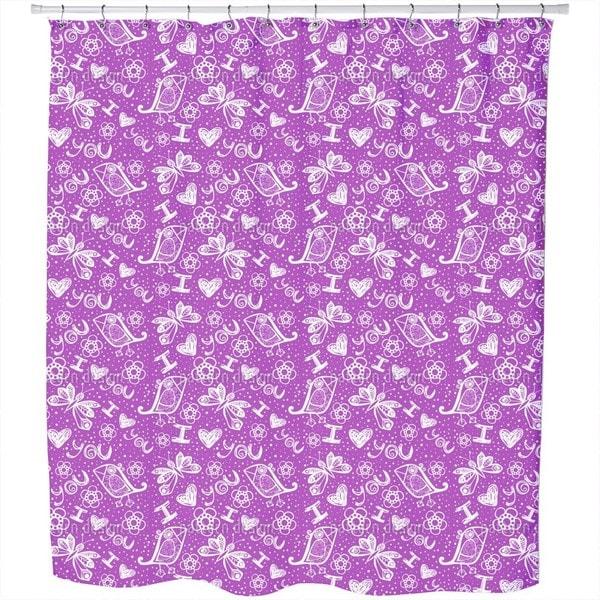 I Love You Birdy Shower Curtain