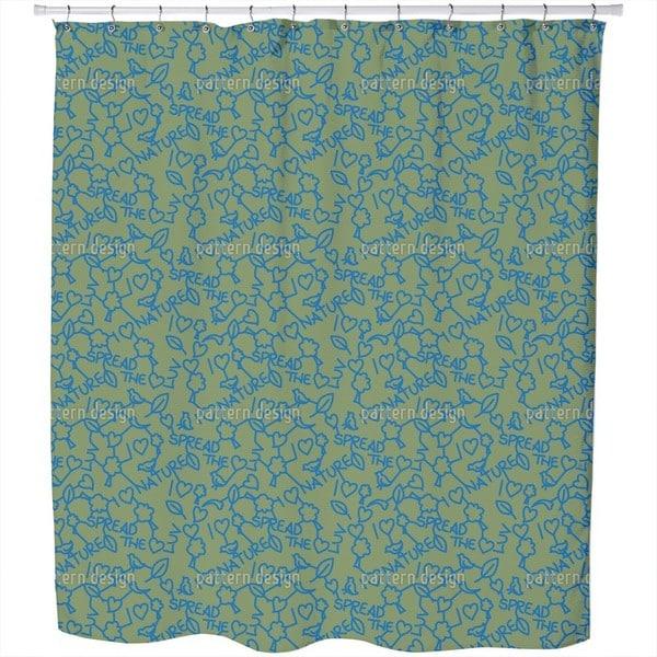 I Love Nature Shower Curtain