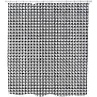 Houndstooth Geometry Shower Curtain