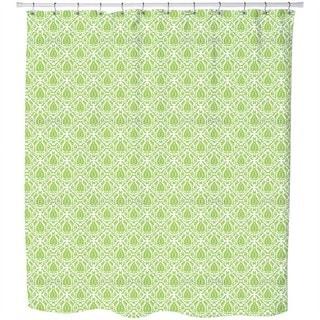 Green Fire Shower Curtain