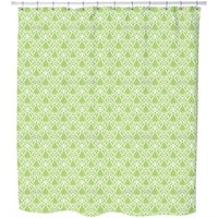 Green Fire Shower Curtain