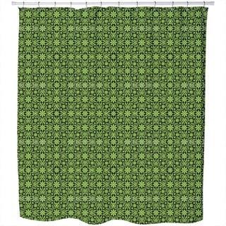 Green Farrago Shower Curtain