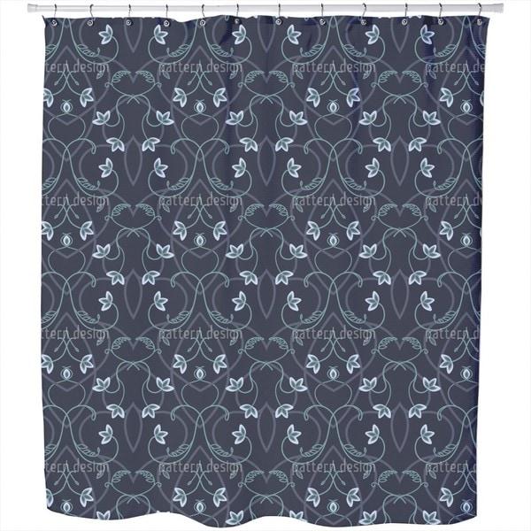 Gothic Flower Fantasy Shower Curtain
