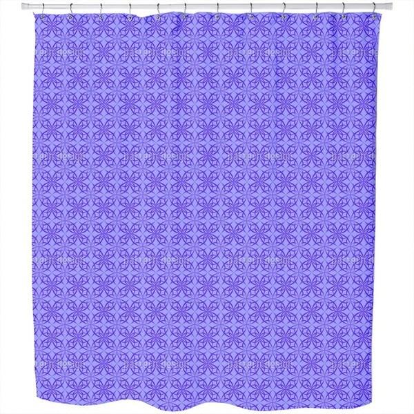 Gothic Arabic Network Shower Curtain