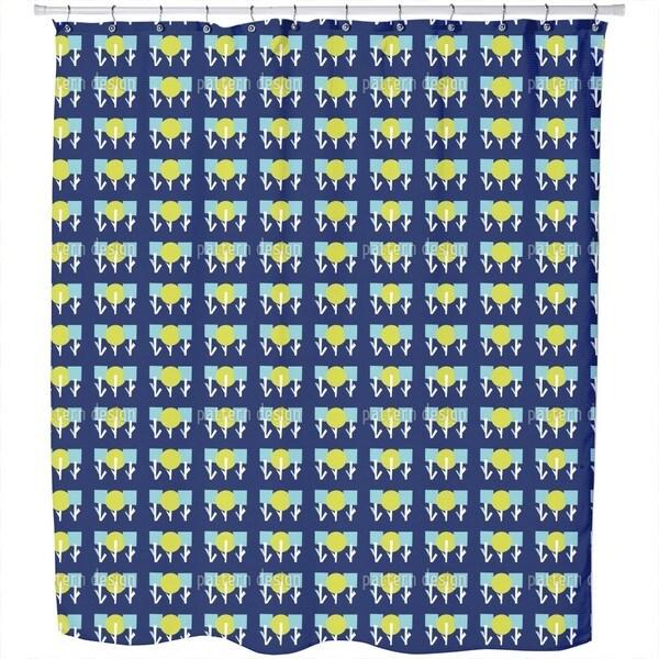 Geometric Flower Garden Shower Curtain