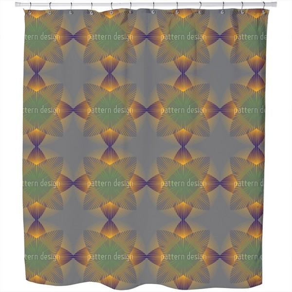 Geometric Blossom Shower Curtain